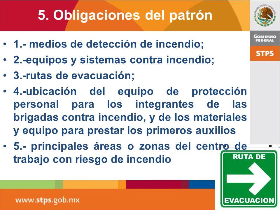 5. Obligaciones del patrón