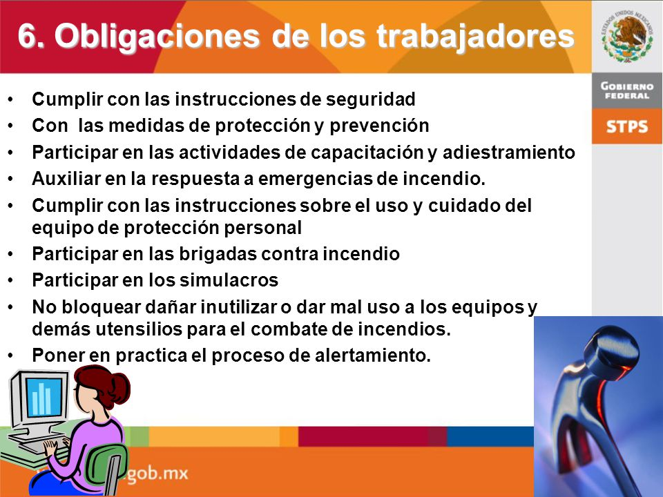 6. Obligaciones de los trabajadores