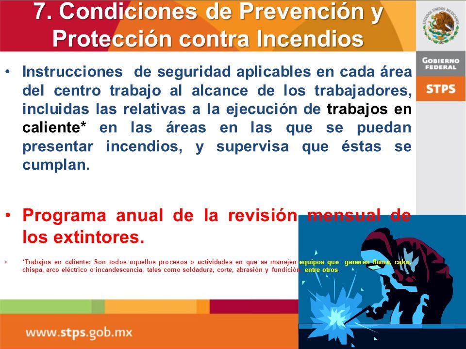 7. Condiciones de Prevención y Protección contra Incendios