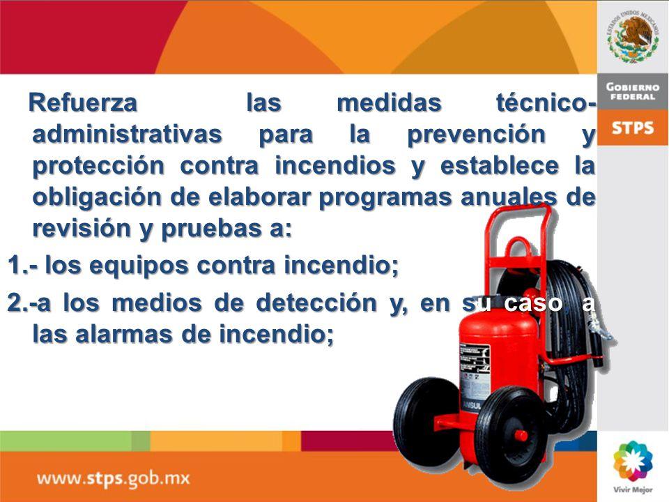 Delegaci n federal del trabajo en tamaulipas ppt video for Medidas contra incendios