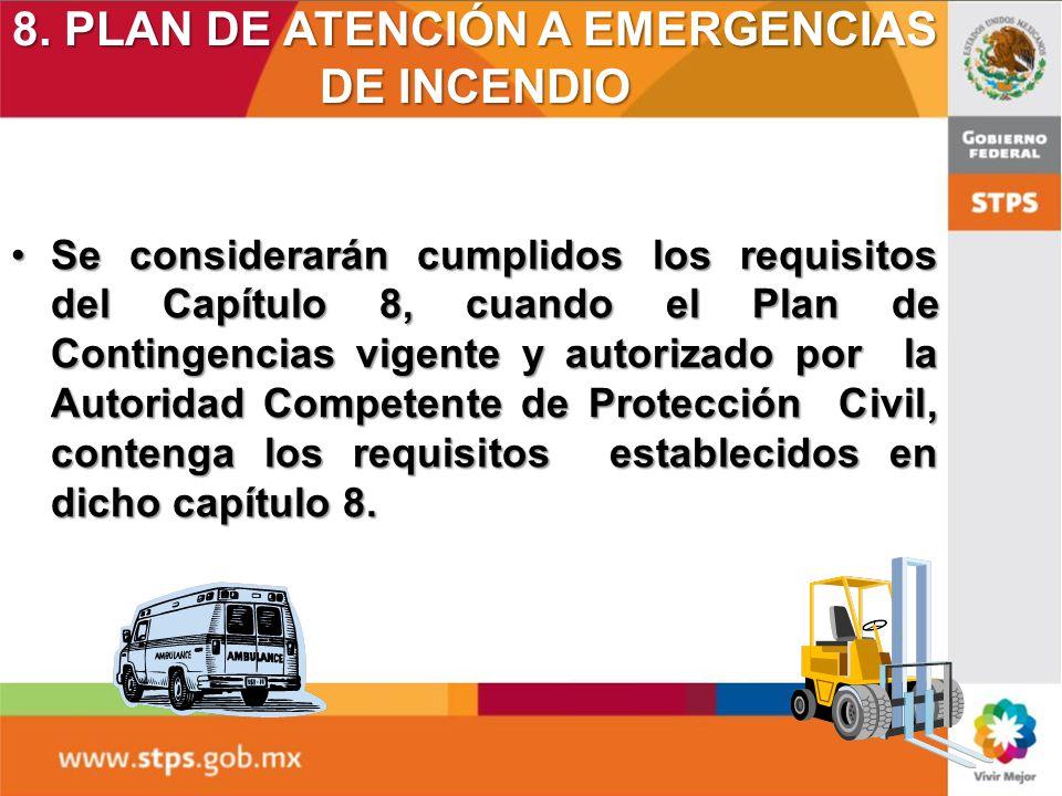 8. PLAN DE ATENCIÓN A EMERGENCIAS DE INCENDIO