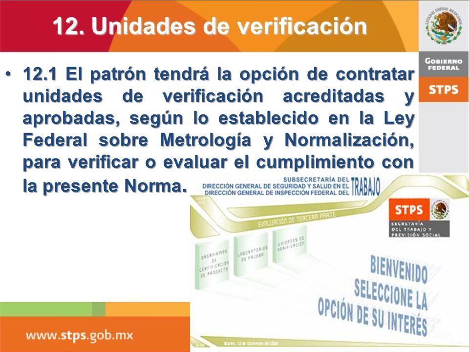12. Unidades de verificación