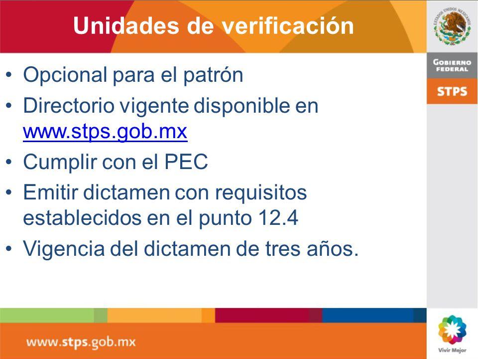 Unidades de verificación
