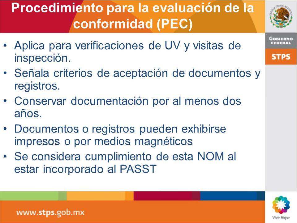 Procedimiento para la evaluación de la conformidad (PEC)