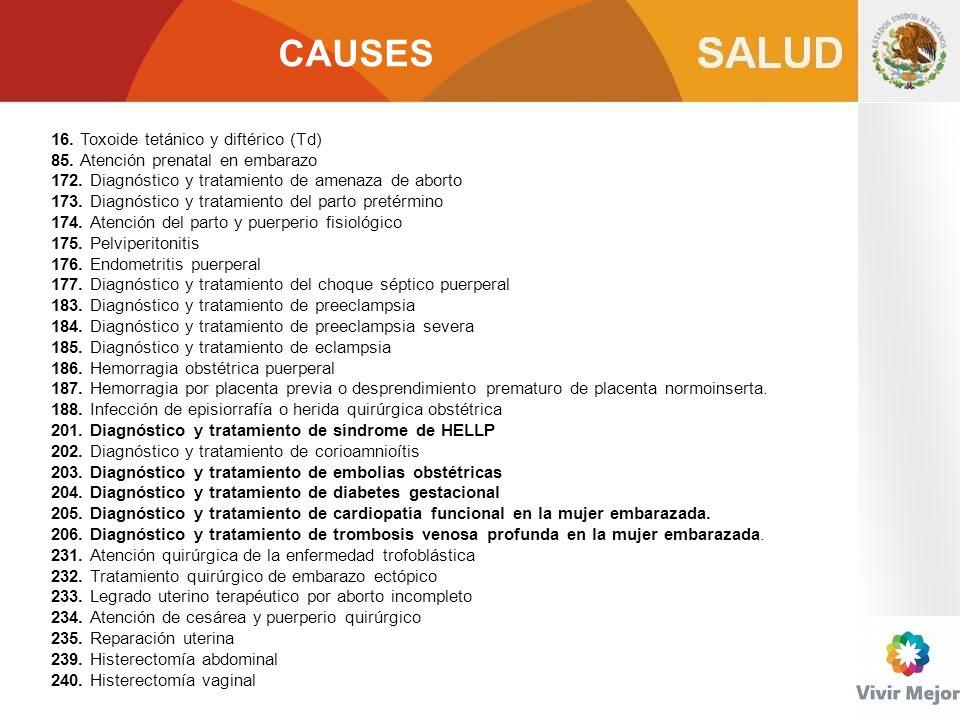 CAUSES 16. Toxoide tetánico y diftérico (Td)
