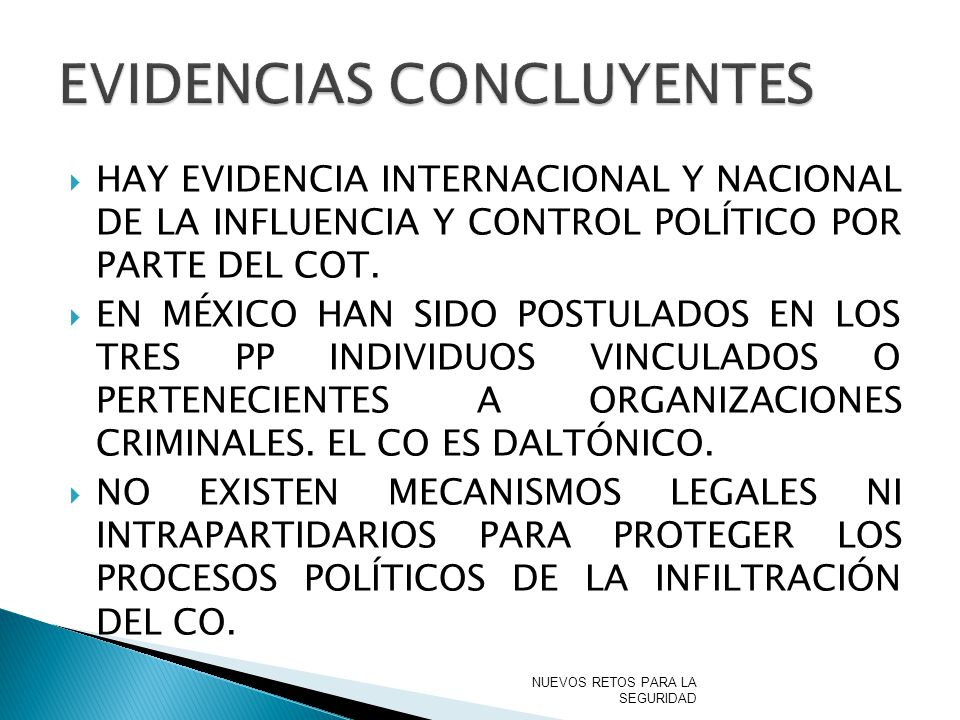 EVIDENCIAS CONCLUYENTES