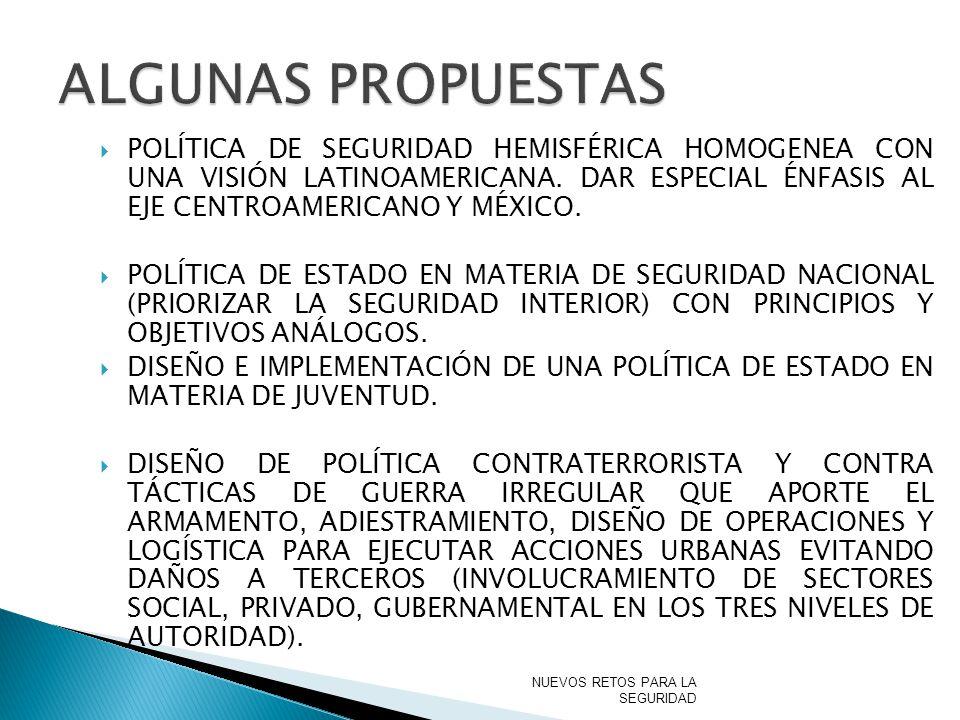 ALGUNAS PROPUESTAS