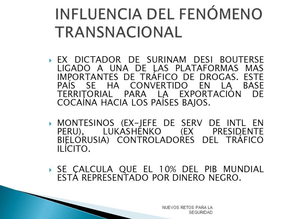 INFLUENCIA DEL FENÓMENO TRANSNACIONAL