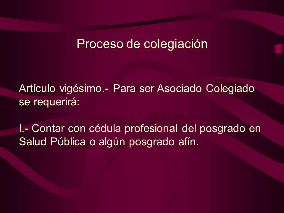 Proceso de colegiación