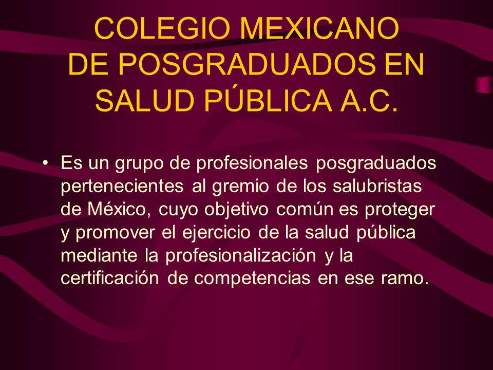 COLEGIO MEXICANO DE POSGRADUADOS EN SALUD PÚBLICA A.C.