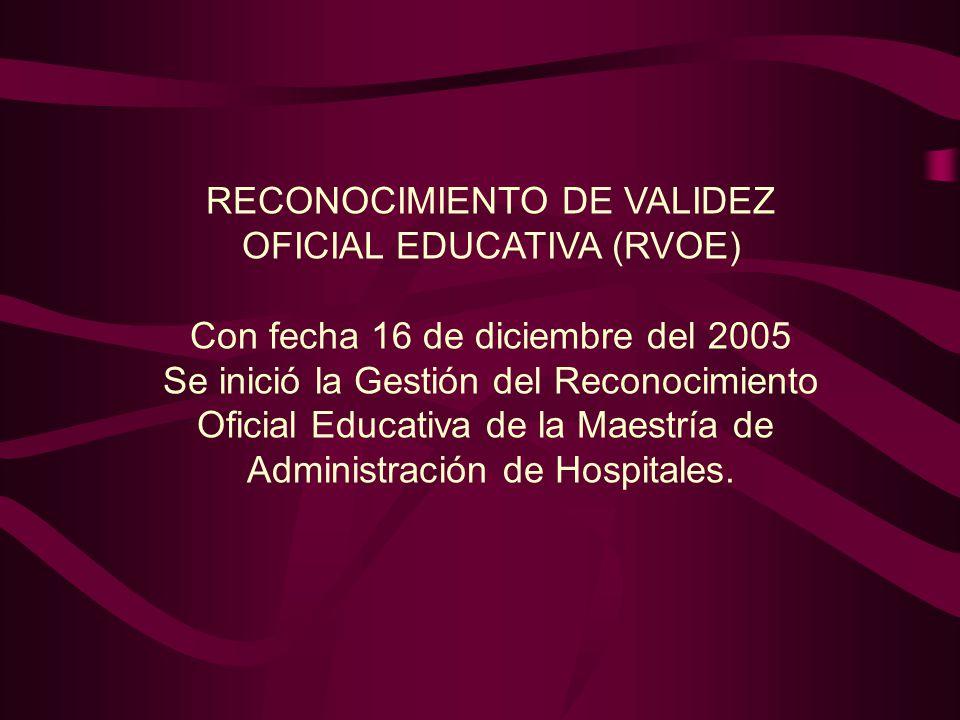 RECONOCIMIENTO DE VALIDEZ OFICIAL EDUCATIVA (RVOE)