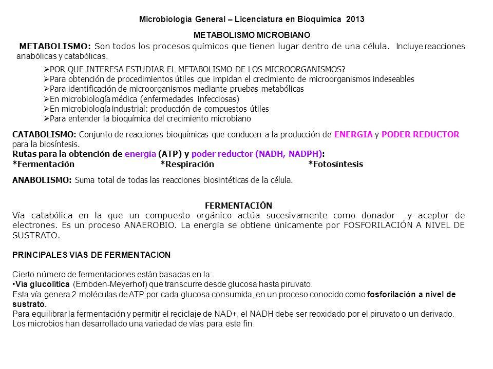 Microbiología General – Licenciatura en Bioquímica 2013