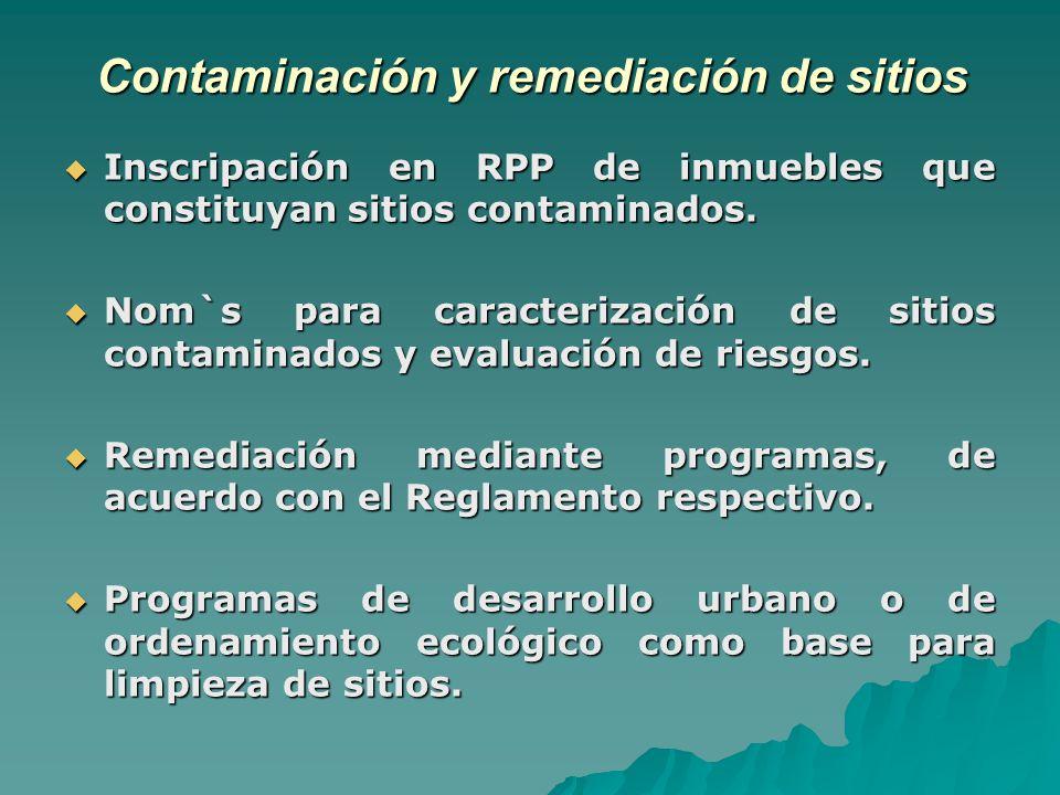 Contaminación y remediación de sitios