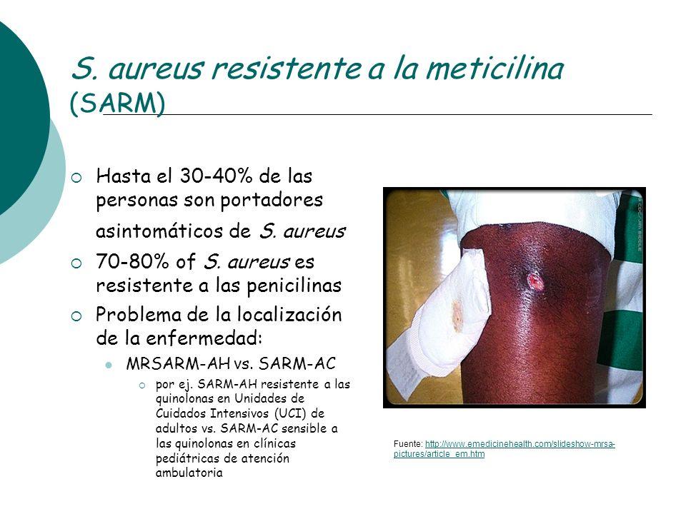 S. aureus resistente a la meticilina (SARM)