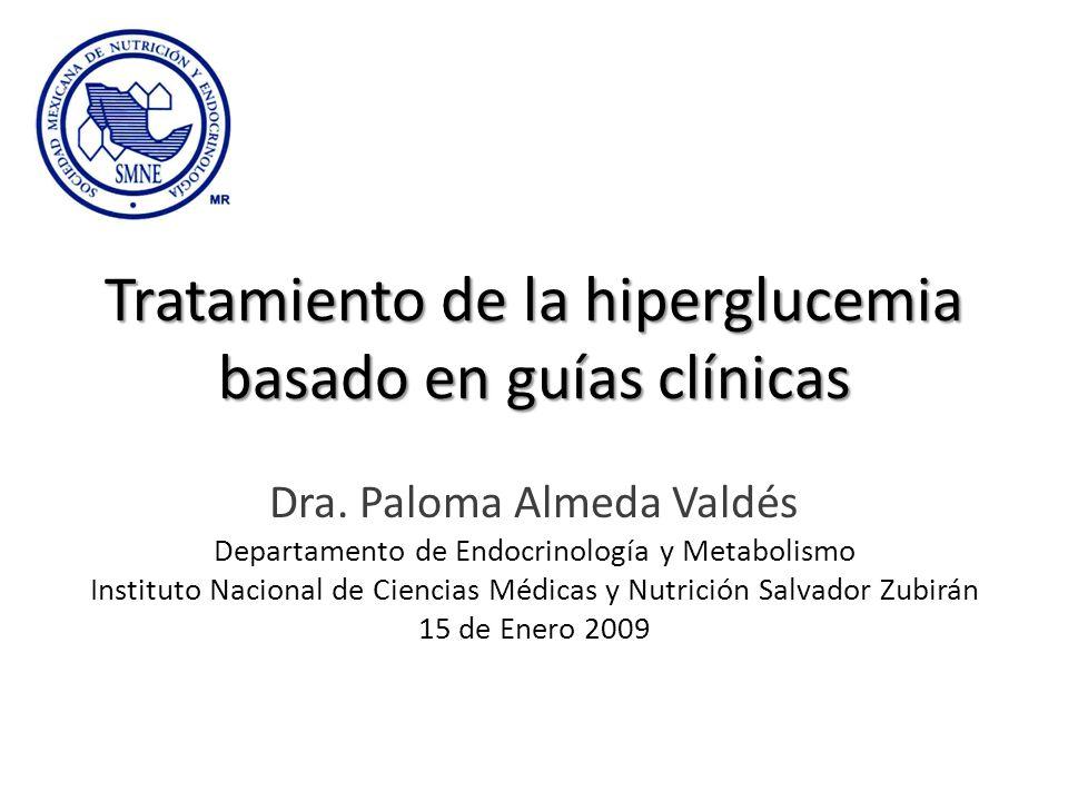 Tratamiento de la hiperglucemia basado en guías clínicas Dra