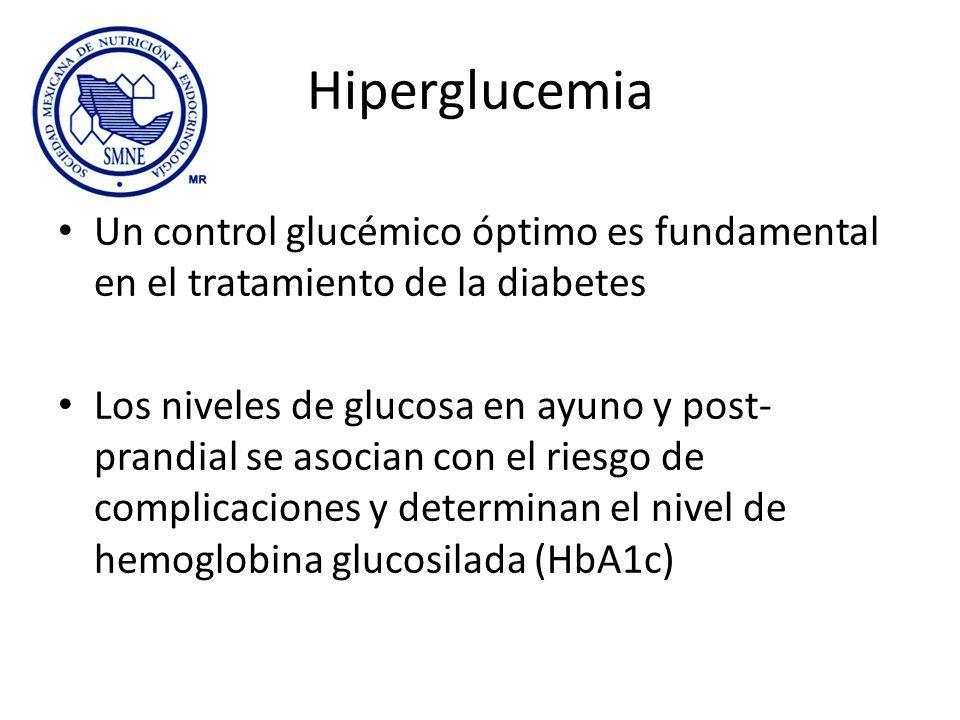 Hiperglucemia Un control glucémico óptimo es fundamental en el tratamiento de la diabetes.