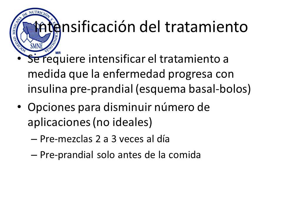 Intensificación del tratamiento