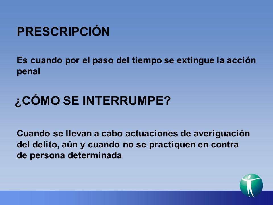 PRESCRIPCIÓN ¿CÓMO SE INTERRUMPE