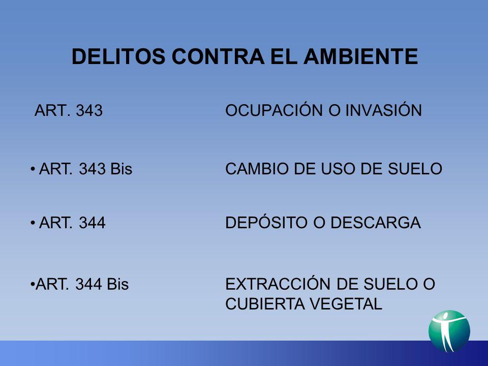 DELITOS CONTRA EL AMBIENTE