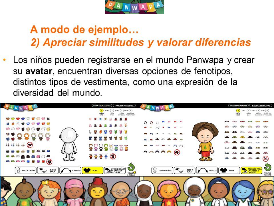 A modo de ejemplo… 2) Apreciar similitudes y valorar diferencias