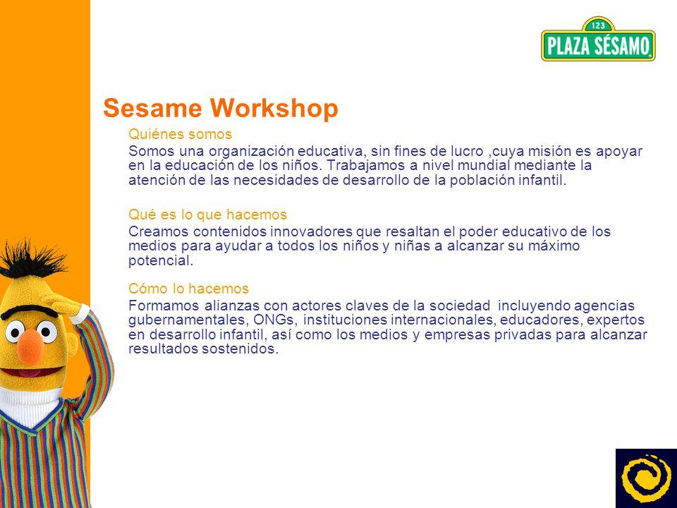 Sesame Workshop Quiénes somos