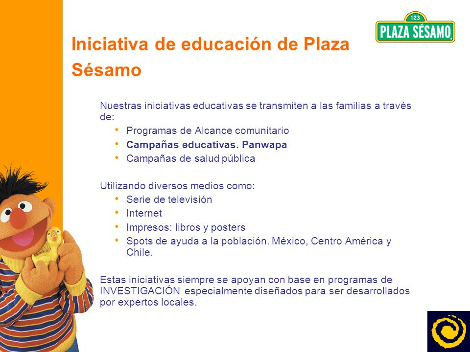 Iniciativa de educación de Plaza Sésamo