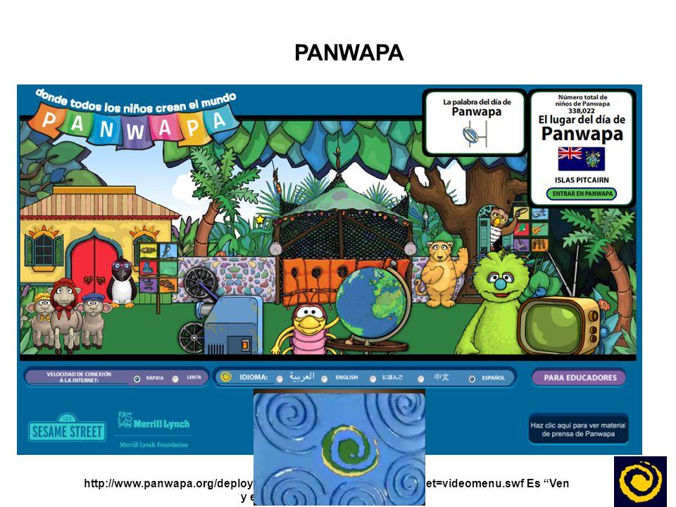 PANWAPA El link es: http://www.panwapa.org/deploy_sp/snacks.php html_load_target=videomenu.swf Es Ven y encuentra la isla de Panwapa