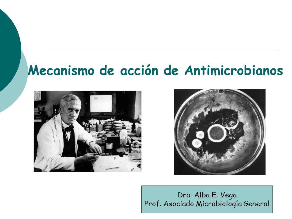 Mecanismo de acción de Antimicrobianos