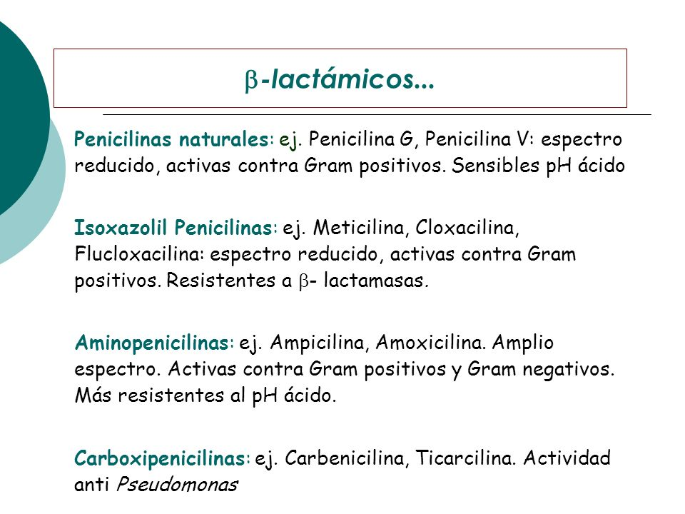 -lactámicos...