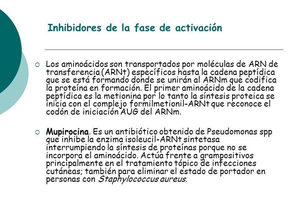 Inhibidores de la fase de activación