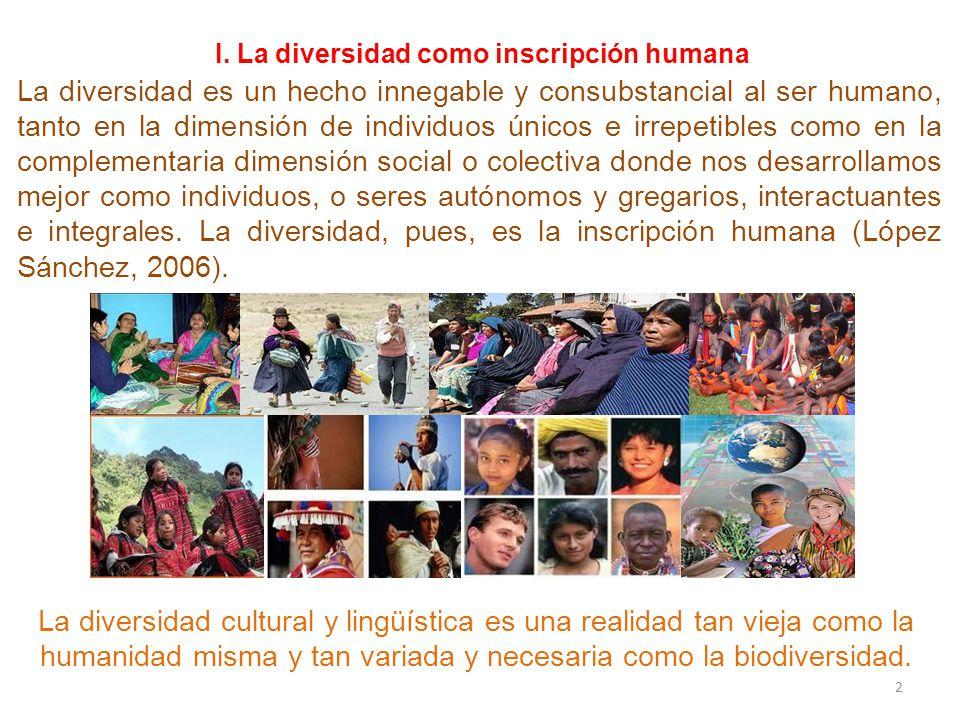 I. La diversidad como inscripción humana