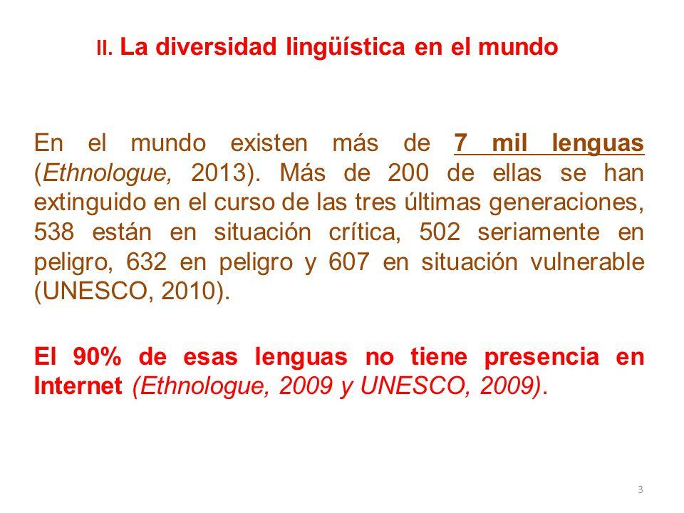 II. La diversidad lingüística en el mundo
