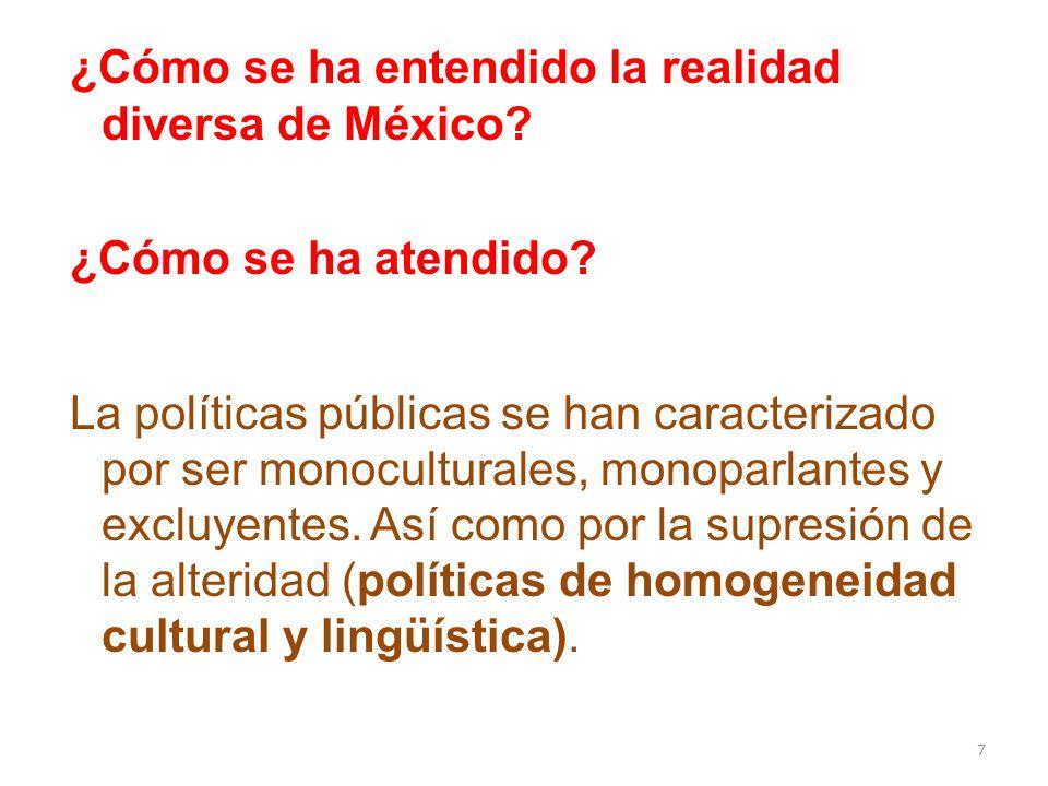 ¿Cómo se ha entendido la realidad diversa de México