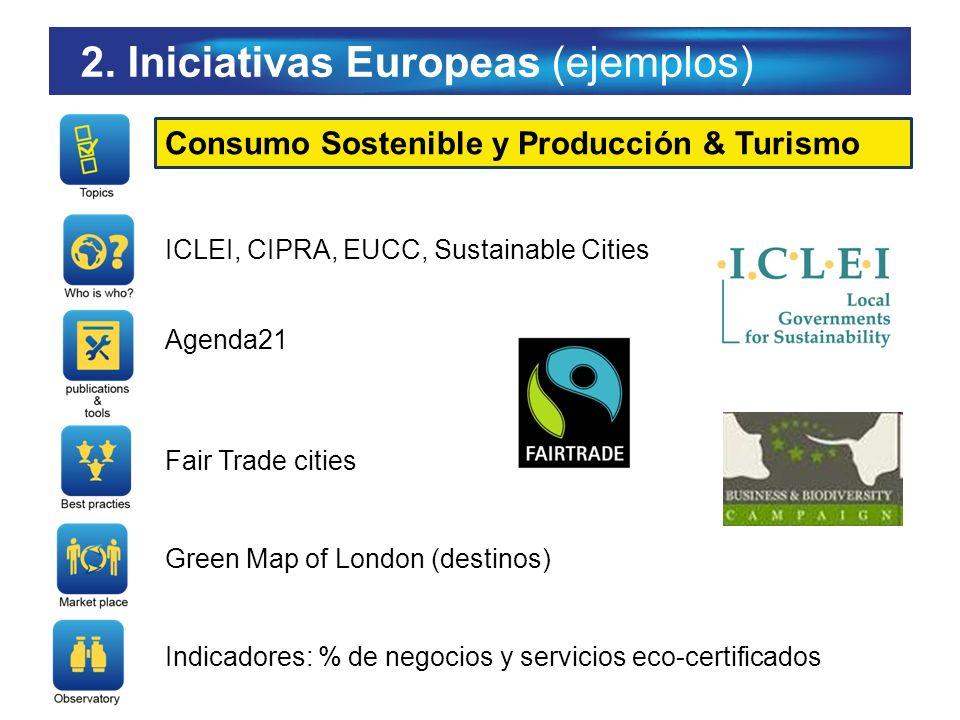 2. Iniciativas Europeas (ejemplos)