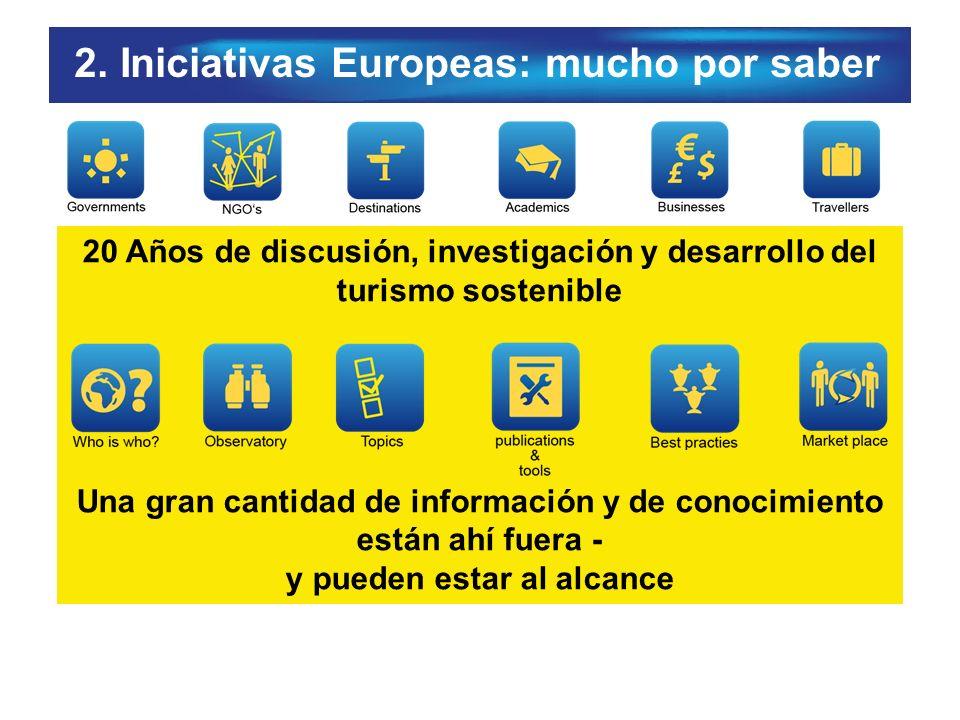 2. Iniciativas Europeas: mucho por saber