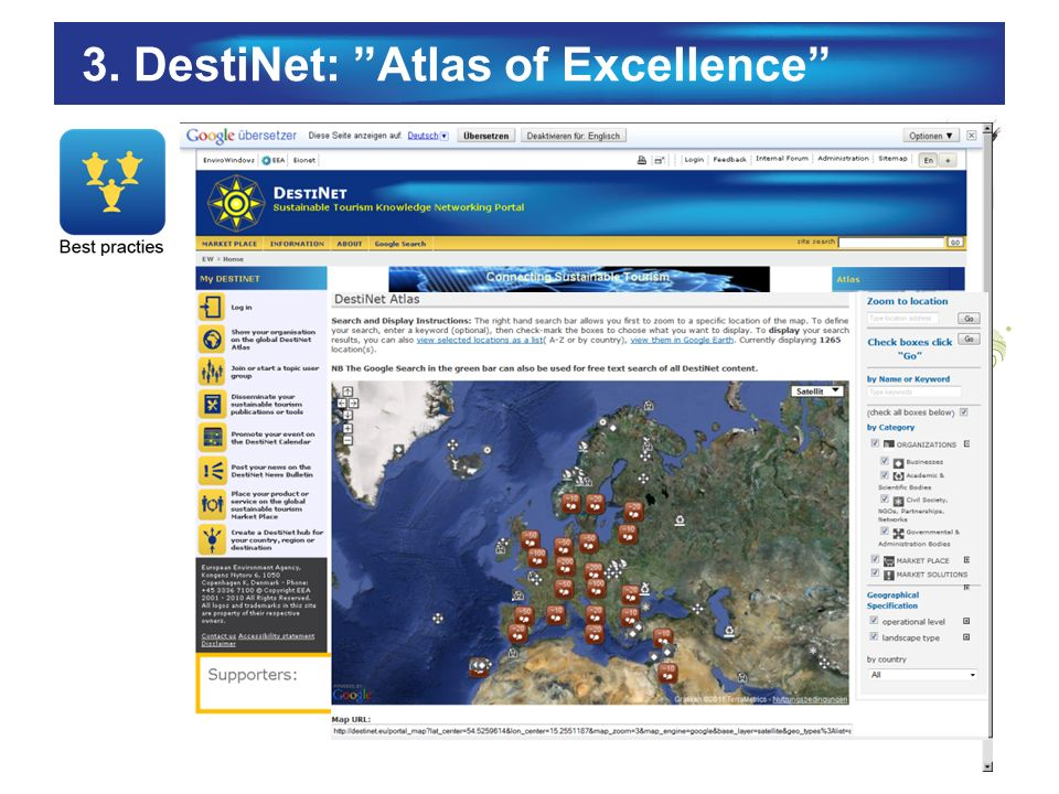 3. DestiNet: Atlas of Excellence