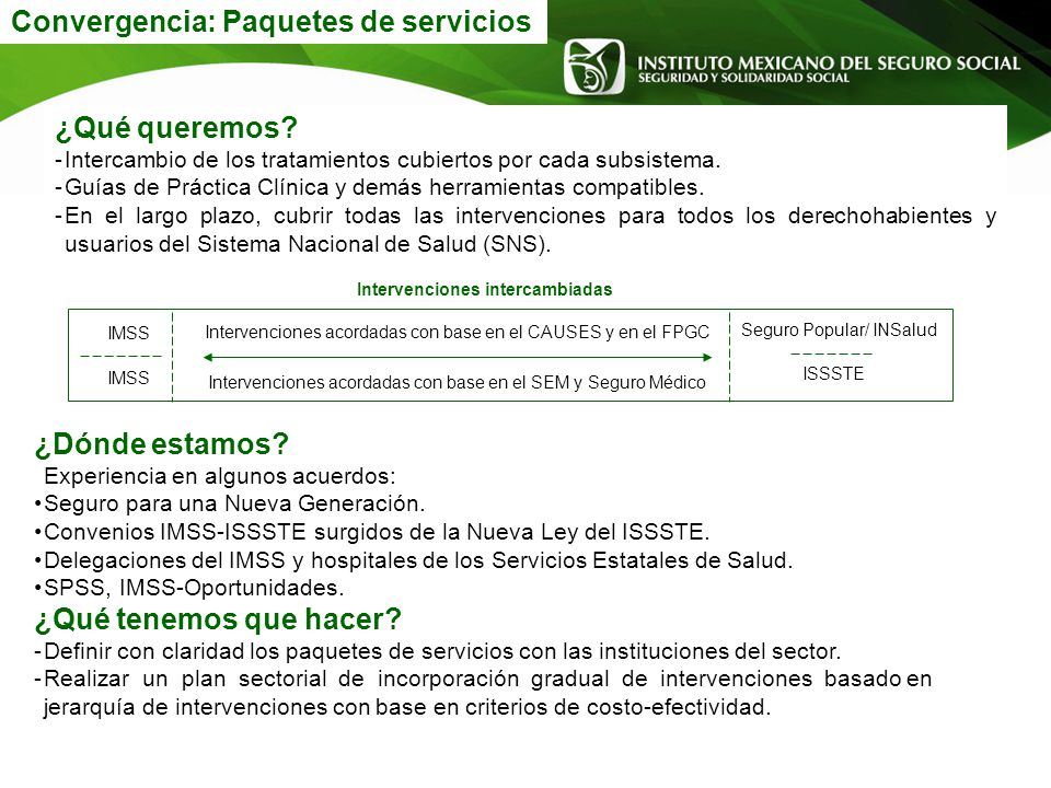 Convergencia: Paquetes de servicios