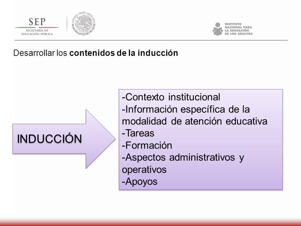 INDUCCIÓN -Contexto institucional