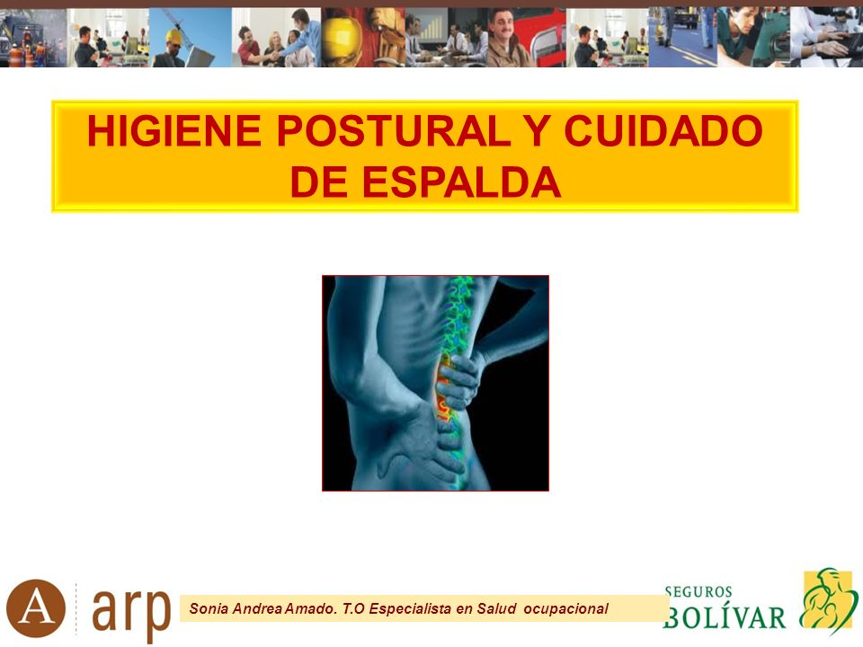 HIGIENE POSTURAL Y CUIDADO DE ESPALDA - ppt video online descargar ba199a533770