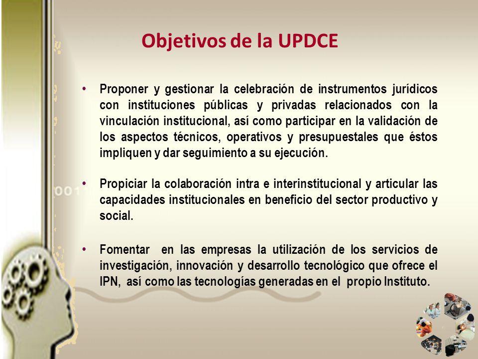 Objetivos de la UPDCE