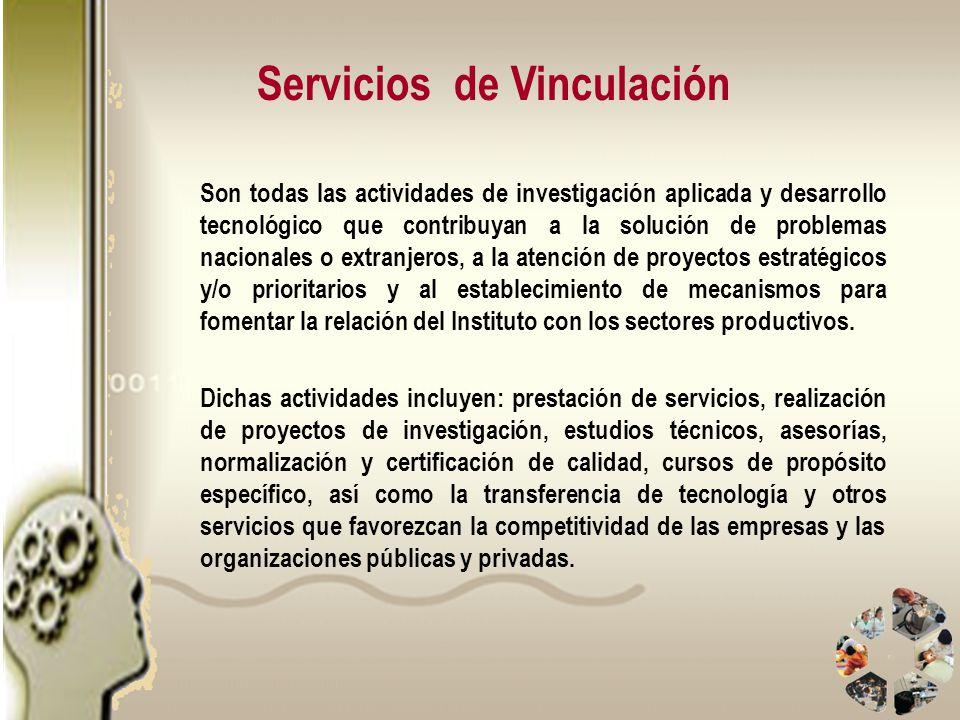 Servicios de Vinculación