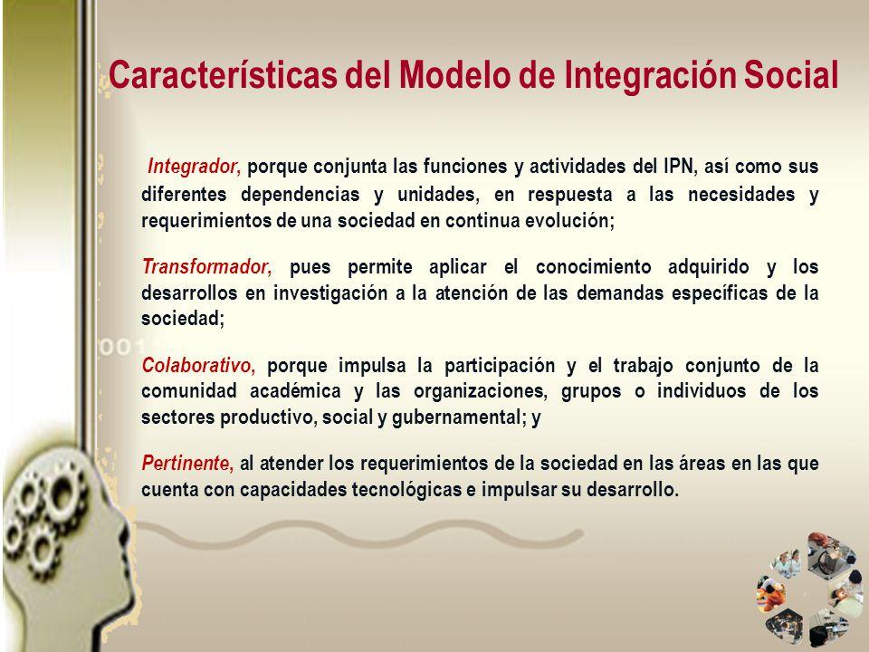 Características del Modelo de Integración Social