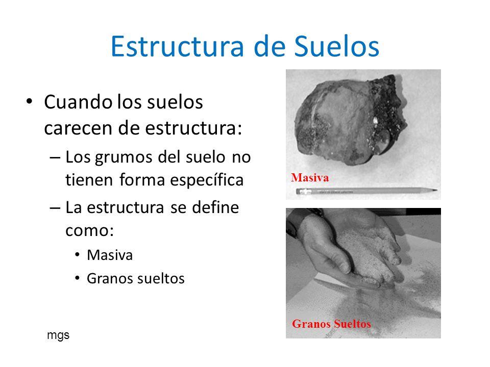 Estructura de Suelos Cuando los suelos carecen de estructura: