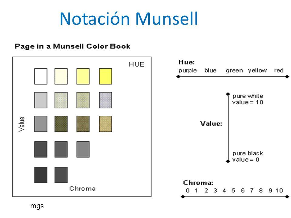 Notación Munsell mgs