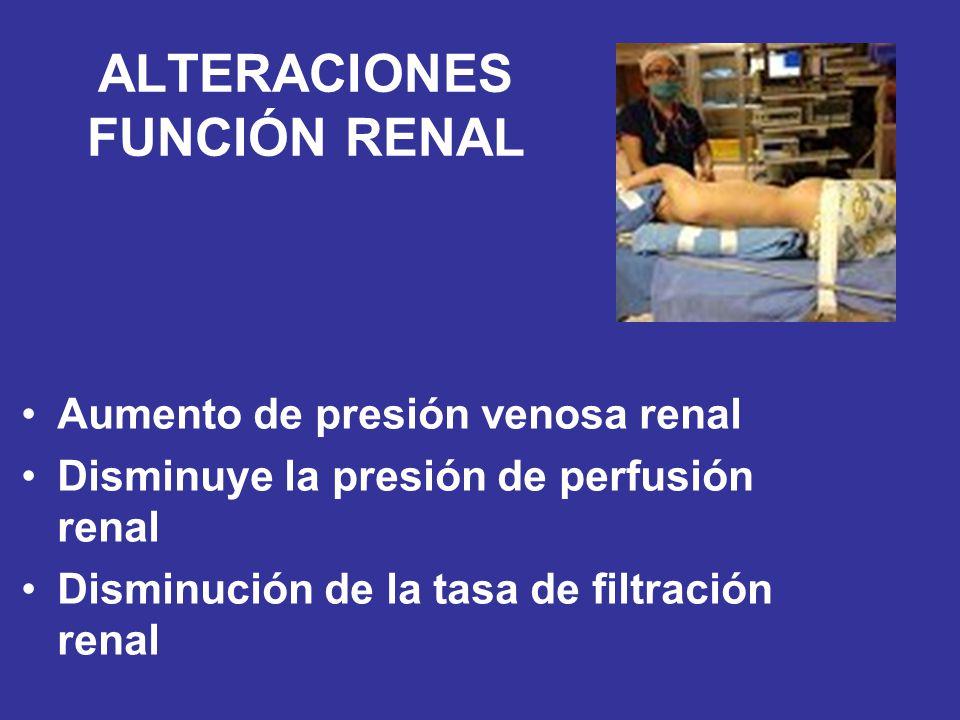 ALTERACIONES FUNCIÓN RENAL
