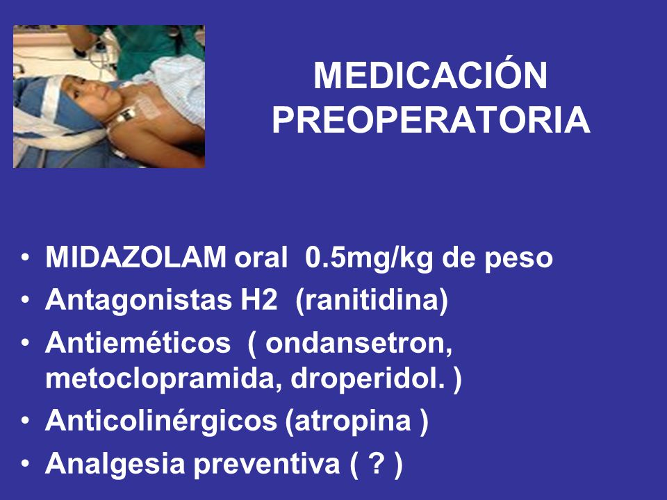 MEDICACIÓN PREOPERATORIA