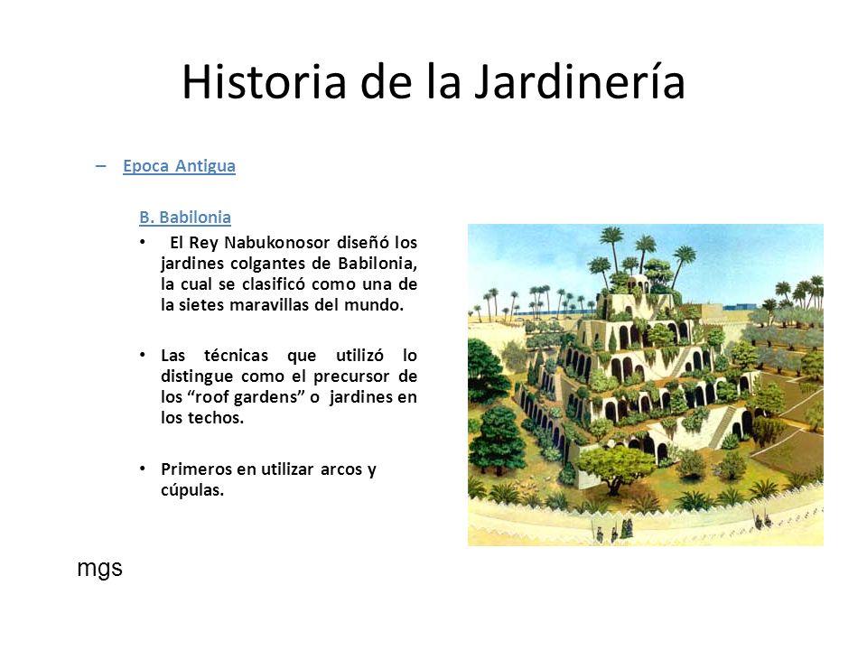 Historia de la Jardinería