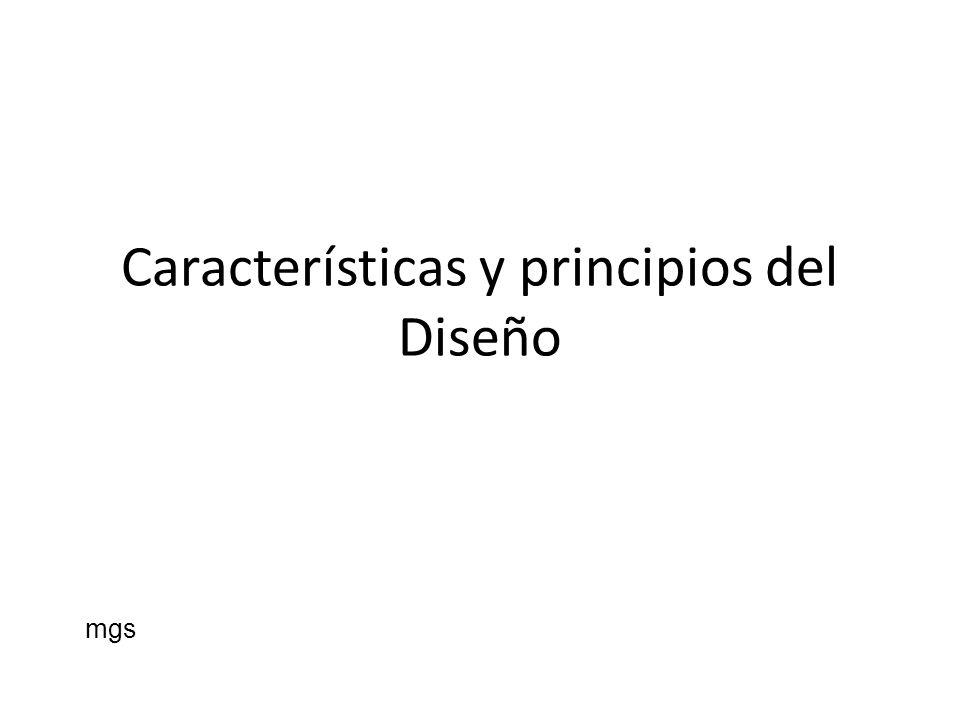 Características y principios del Diseño