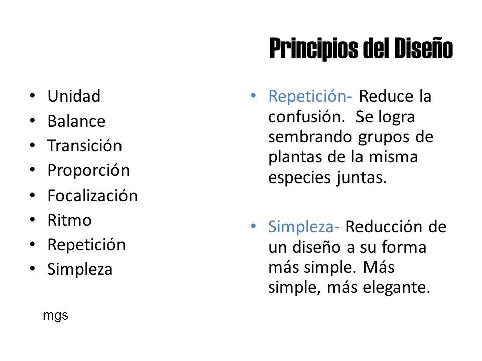 Principios del Diseño Unidad Balance Transición Proporción
