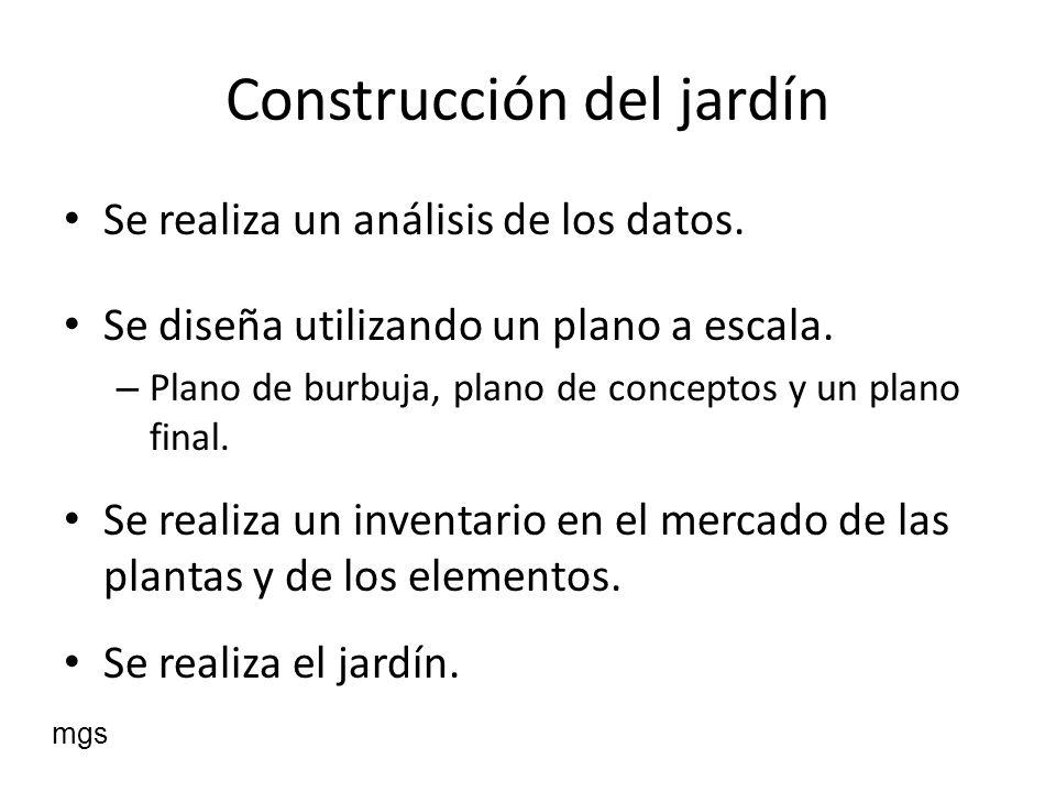 Construcción del jardín